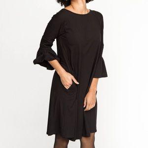 🆕 ONE LEFT IN M! Soft Black Bell Sleeve Dress